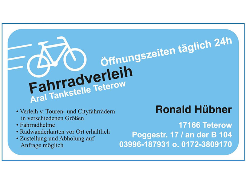 Aral fahrradverleih