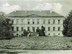 Schloss teschow um 1930 hist. postkarte stadtarchiv
