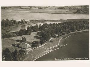 800x600 luftbild von der burgwallinsel um 1935 foto archiv stadtmuseum